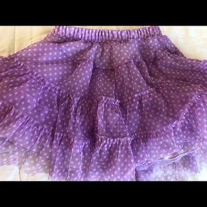 Jona Michelle purple polka dot Tutu Skirt Girls 5